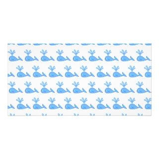 Whale Pattern. Photo Card Template