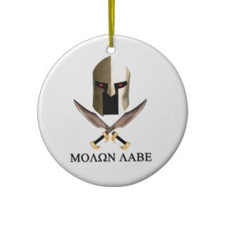 MOLON LABE CHRISTMAS ORNAMENT