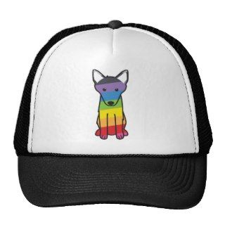 Belgian Malinois Dog Cartoon Mesh Hat