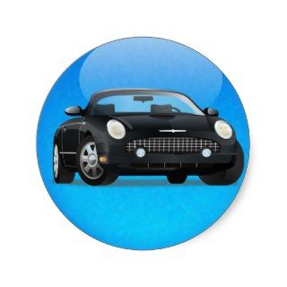 2002 2005 Ford Thunderbird _ Blue Circle Sticker