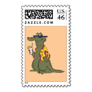Alligator Crocodile ~ Gator Croc Cartoon Animal Postage