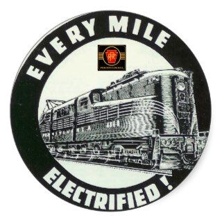 Pennsylvania Railroad Locomotive GG 1 #4800 Round Stickers