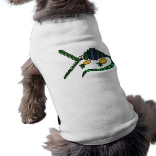 XX  Funky Crocodile Art Doggie T Shirt