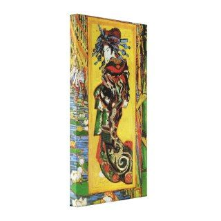 Japonaiserie Oiran after Kesa Eisen by van Gogh Stretched Canvas