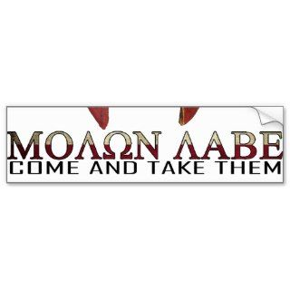 Molon Labe   Come and Take Them USA Spartan Bumper Sticker