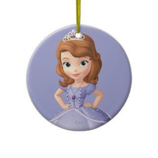 Sofia the First 2 Christmas Ornaments