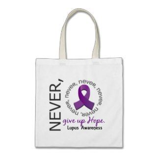 Never Give Up Hope Lupus Canvas Bags