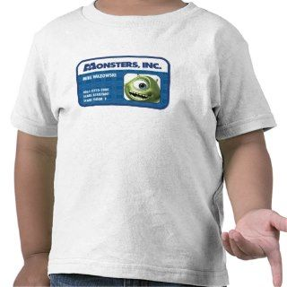Inc. Mike Wazowski employee ID card Tee Shirts