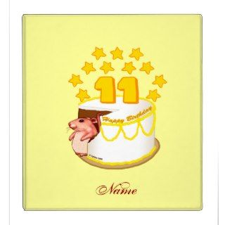 11 Year Old Birthday Cake Mouse Vinyl Binders