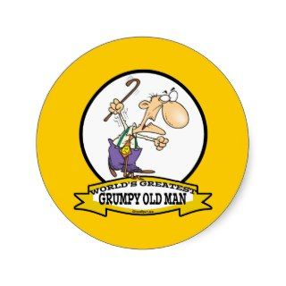 WORLDS GREATEST GRUMPY OLD MAN CARTOON STICKER
