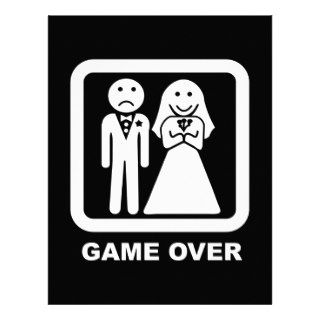 Marriage Game Over Personalized Letterhead