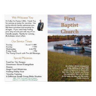 Customizable Weekly Church Bulletin (Outside Only) by Churchsupplies