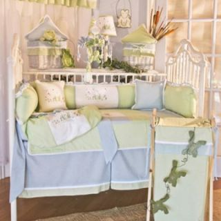 Brandee Danielle Sammy Frog Fitted Crib Sheet   Crib Sheets at