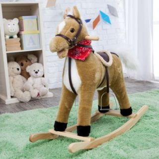 Charm Blonde Rocking Horse with Movement and Sounds!   Rocking Horses