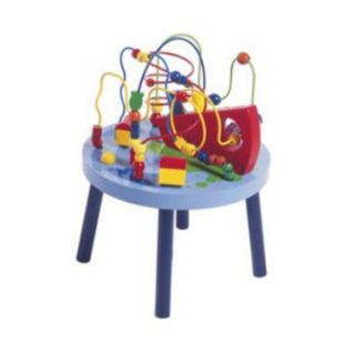 Hape Ocean Adventure Knee High Bead Table   Activity Tables at