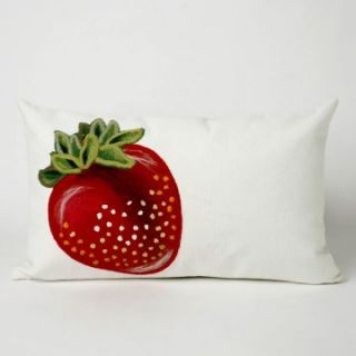 Liore Manne Strawberry Red Rectangle Pillow Set   Decorative Pillows