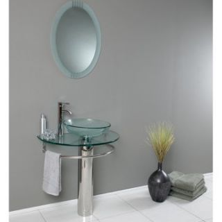 Fresca Attrazione 29.5 in. Modern Glass Single Bathroom Vanity
