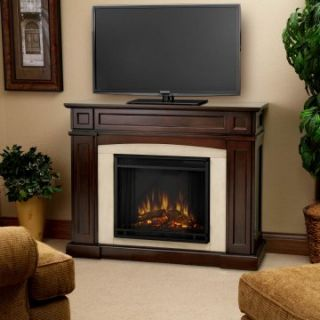 Real Flame Rutherford Electric Fireplace   Dark Mahogany   Electric