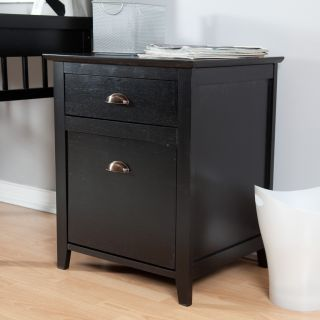 Pearce 2 Drawer File Cabinet   Black   Wood File Cabinets