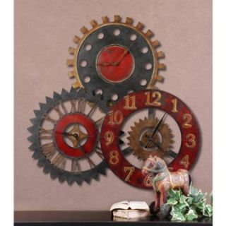 Uttermost Rusty Movements Metal 35 Inch Wall Clock   Wall Clocks at