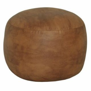 Harvard Faux Leather Bigfoot Ottoman   Ottomans