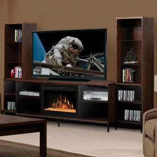 Dimplex Geneva Mocha Entertainment Center Electric Fireplace
