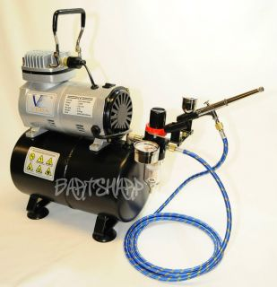 Air Brush Compressor Kit Airbrush Compressor Spray Tan Tank Nail Tattoo Art Hose