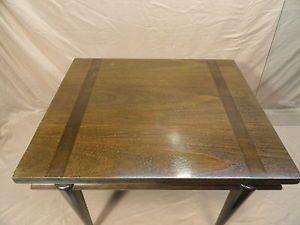 Vtg John Widdicomb End Table Mid Century Modern Wood Glass Top 1950's Antique