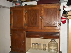 Antique Hoosier Cabinet Racks Glassware Stainless Shelf Pick Up Cent New Jersey