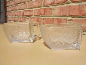 2 Old Vintage Antique Hoosier Cabinet Style Glass Scoops Kitchen Utensils