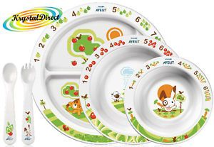 Avent Baby Gift Toddler Feeding Set Plate Bowl Spoon