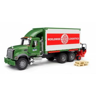 Bruder Granite Cargo Truck w Forklift Attached Toy Trucks Bruder Toys