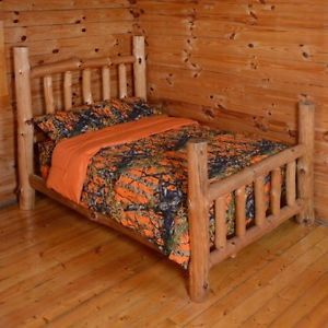 Woods Orange Camo Comforter and Sheet Set Twin Bed in Bag Set Camouflage