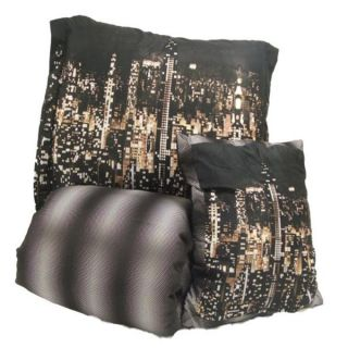 Sunham Home City Scape 5 Piece Twin Comforter Bed in A Bag Set Black White New