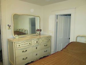 Antique French Provincial Bedroom Set by Bassett Furniture Inc