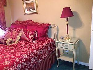Vintage Antique French Provincial King Bedroom Set