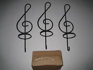 3pc Music Notes Wall Sconce Set Candle Holders Clef Treble Rock Home Decor New