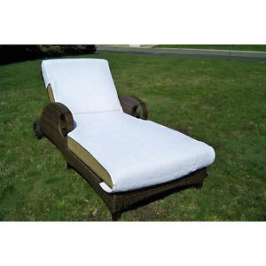 Standard Chaise Lounge White 100 Percent Turkish Cotton Towel Cover