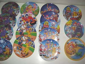16 Ronald McDonalds Holiday Collector Plates Vintage 1977 2007 3 RARE Halloween
