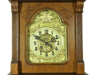 Beautiful Antique German Wall Clock Cooperation Gustav Becker Carl Mueller 1890