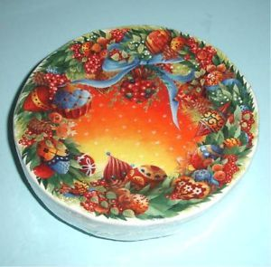 Gien Noel Christmas Canape Appetizer Plates Set of 4 Annual 2007 New