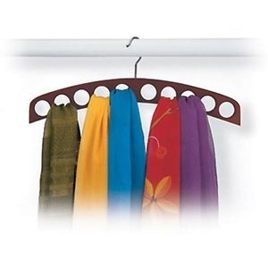 Tie Belt Scarves Organizer Closet Mounted Rack Holder 10 Hole Scarf Hanger Wal
