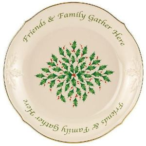 Lenox Holiday Dessert Dish Friends Family Gather Here New Sentiment Dish