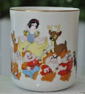 Snow White Seven Dwarfs Coffee Mug Cup Disneyland Walt Disney Japan White