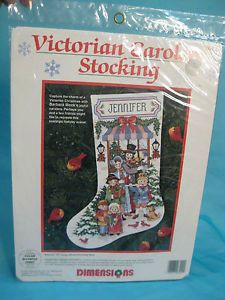 Dimensions Counted Cross Stitch Kit Stocking Christmas Carolers New
