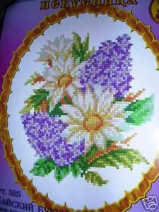 Kit Cross Stitch Flowers Kreuzstich Set Point Croix