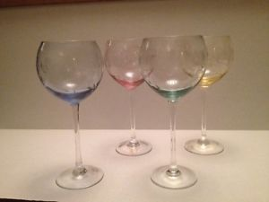 Of Weil Air Twist Stem Wine Glasses Inches Tall Multi
