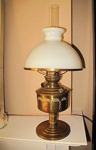 Wild Wessel Antique Victorian Table or Desk Oil Lamp Kerosene Brass Circa 1865