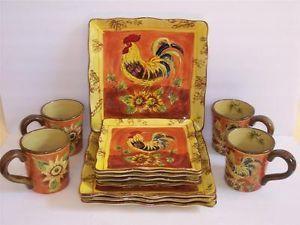 Orange Rooster Dinnerware & Marvelous Orange Rooster Dinnerware Ideas - Best Image Engine ...
