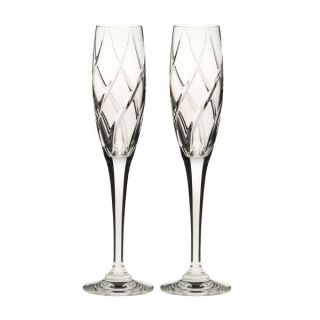 Mikasa Olympus Crystal Champagne Flutes Set of 2
